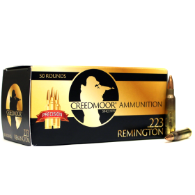 CREEDMOOR .223 77 GR HPBT AMMUNITION IN LC BRASS
